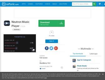 neutron-music-player.en.softonic.com screenshot
