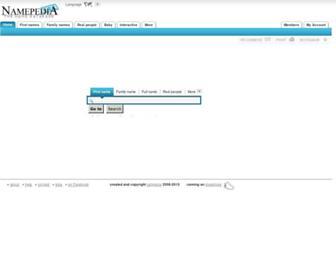 Main page screenshot of namepedia.org