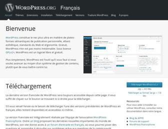 fr.wordpress.org screenshot