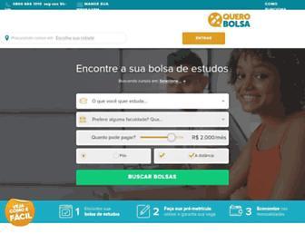 querobolsa.com.br screenshot