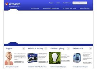 verbatim.com screenshot