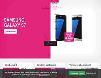Main page screenshot of t-mobile.nl