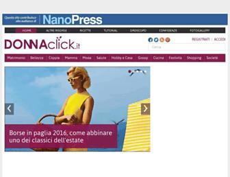Main page screenshot of donnaclick.it