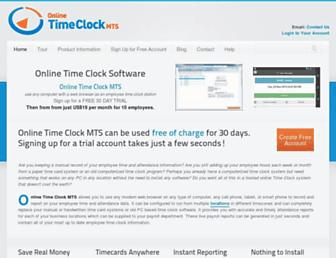 timeclockmts-online.com screenshot