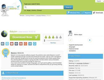 babylon.en.downloadastro.com screenshot