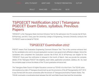 tspgecet.co.in screenshot