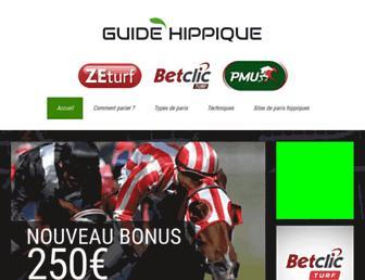 guide-hippique.com screenshot