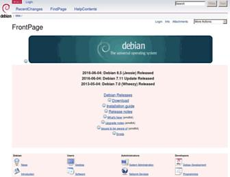 wiki.debian.org screenshot
