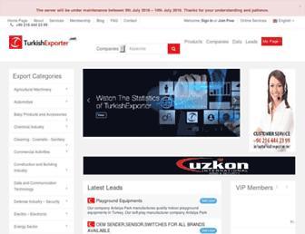 turkishexporter.net screenshot