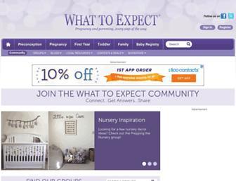 community.whattoexpect.com screenshot