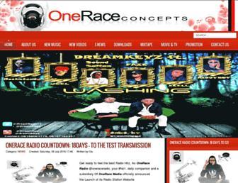 oneraceconcepts.com screenshot