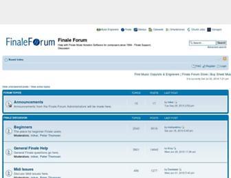 finaleforum.com screenshot