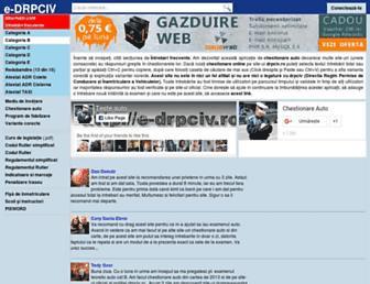Main page screenshot of e-drpciv.ro