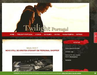 Main page screenshot of twilightportugal.blogs.sapo.pt