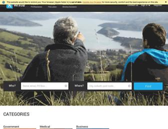 whitepages.co.nz screenshot