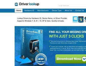 driverlookup.com screenshot