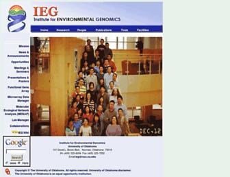 Main page screenshot of ieg.ou.edu
