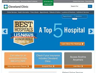my.clevelandclinic.org screenshot