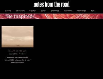 notesfromtheroad.com screenshot