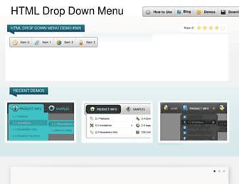 htmldropdownmenu.com screenshot