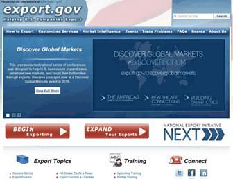 2016.export.gov screenshot