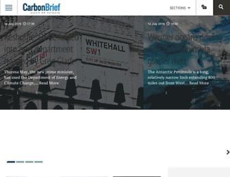 carbonbrief.org screenshot