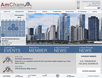 amcham.lt screenshot