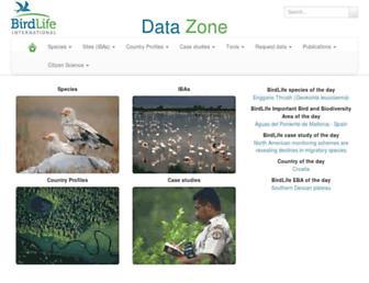datazone.birdlife.org screenshot