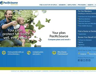 pacificsource.com screenshot