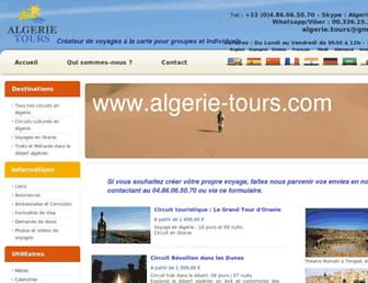 algerie-tours.com screenshot