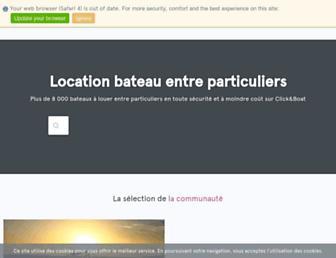 clickandboat.com screenshot