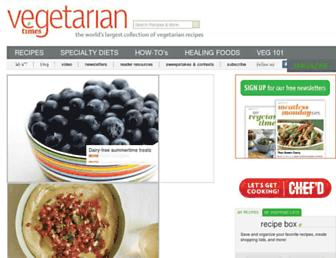 Thumbshot of Vegetariantimes.com