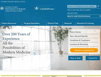 columbiasurgery.org screenshot