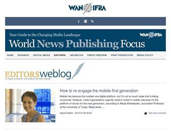 Main page screenshot of editorsweblog.org