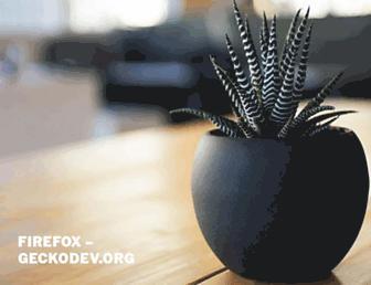 firefox.geckodev.org screenshot
