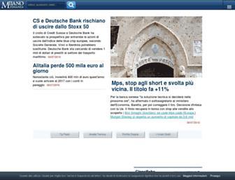 Main page screenshot of milanofinanza.it