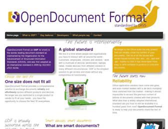 opendocumentformat.org screenshot