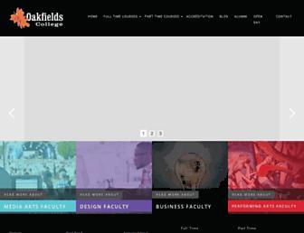oakfieldscollege.co.za screenshot