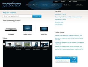 support.youview.com screenshot