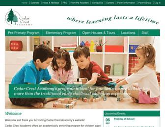 cedarcrestacademy.org screenshot