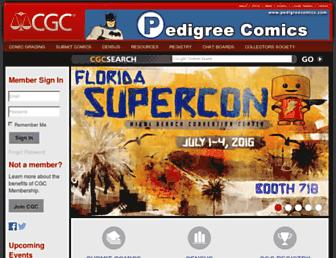cgccomics.com screenshot
