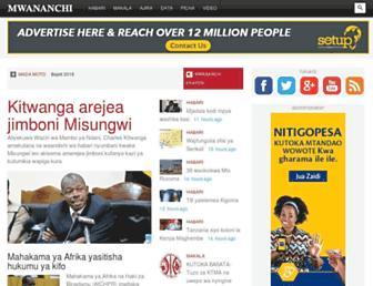 Main page screenshot of mwananchi.co.tz