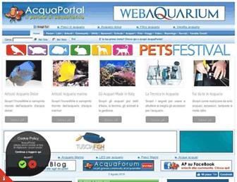 Main page screenshot of acquaportal.it