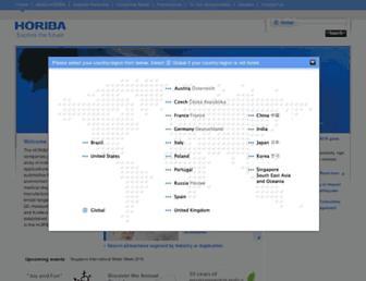 horiba.com screenshot