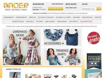 Main page screenshot of bader.at