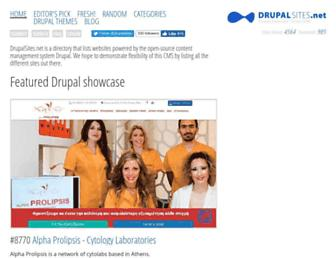 Main page screenshot of drupalsites.net