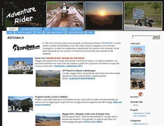 Main page screenshot of advrider.it