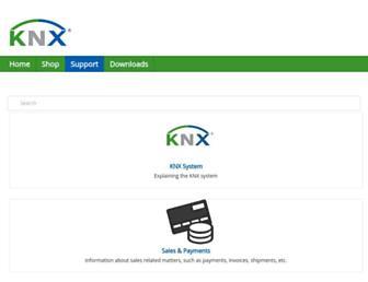 support.knx.org screenshot