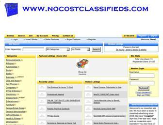 Thumbshot of Nocostclassifieds.com