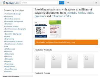 link.springer.com screenshot